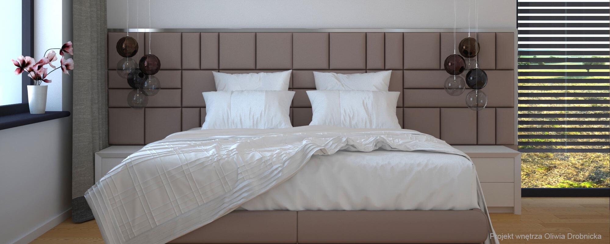 Projektowanie wnętrz elegancka sypialnia