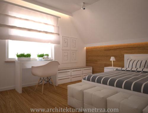 Sypialnia w domu pod Wrocławiem