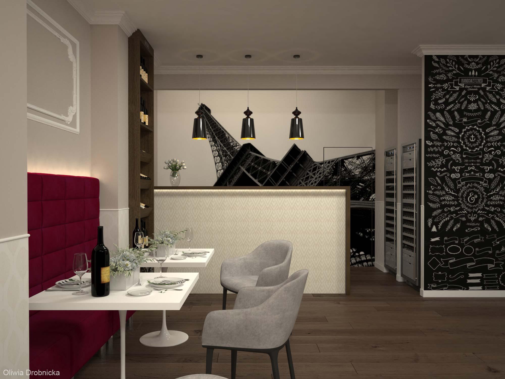 projekt wnętrz restauracji Katowice