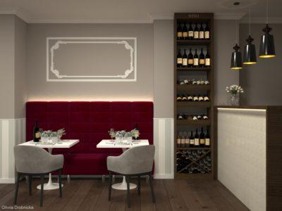 Projekt wnętrz restauracji