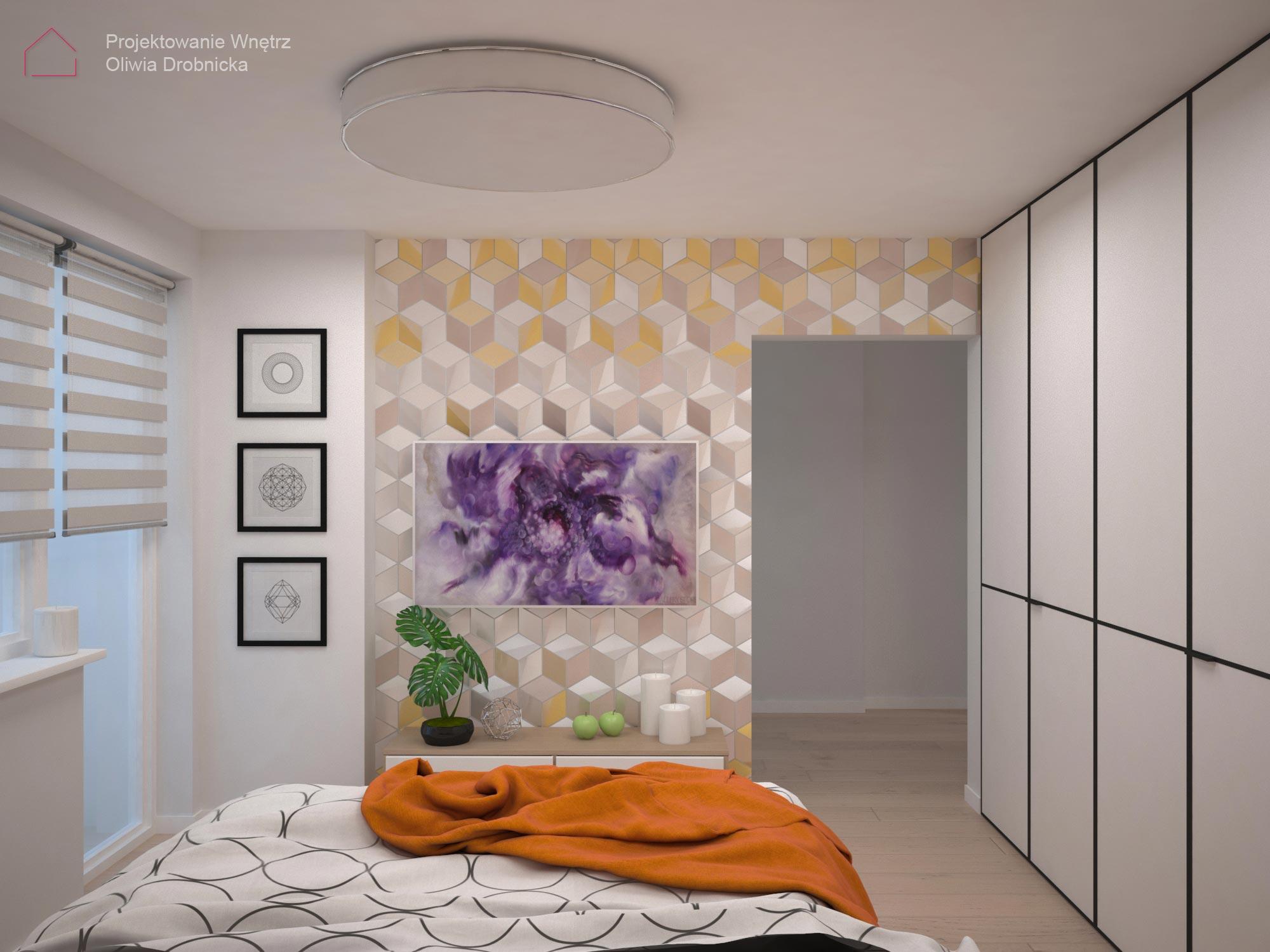projekt sypialni Warszawa 1