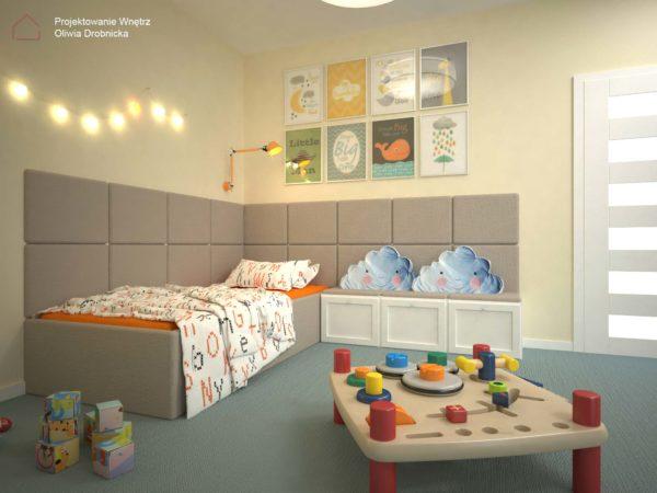 Projekt wnętrz pokoju dla chłopca