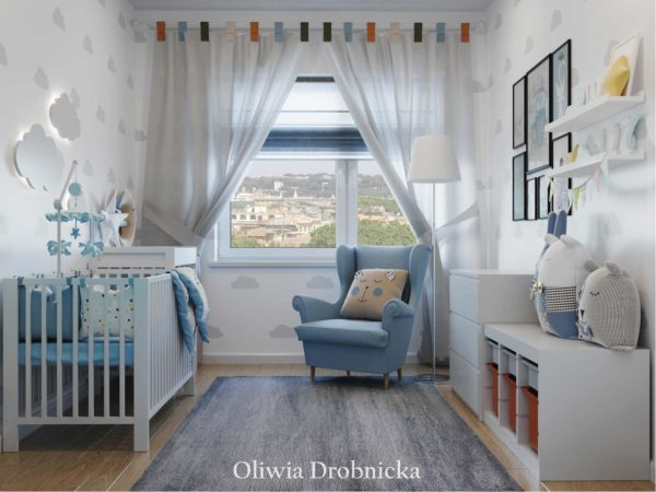 76e458b534dd9a Projekt pokoju dziecięcego - Architekt wnętrz Oliwia Drobnicka