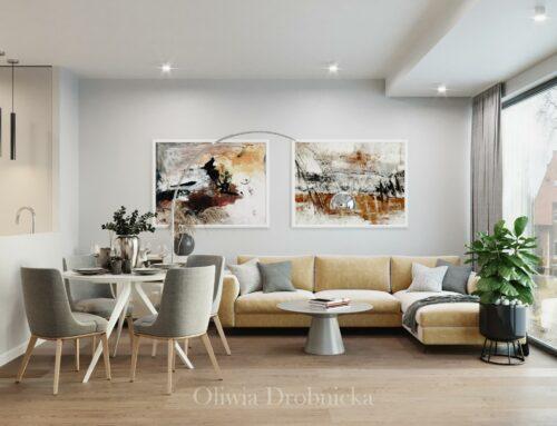 Salon w luksusowym apartamencie