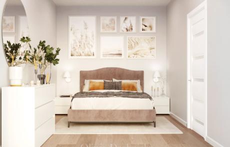 Delikatna sypialnia