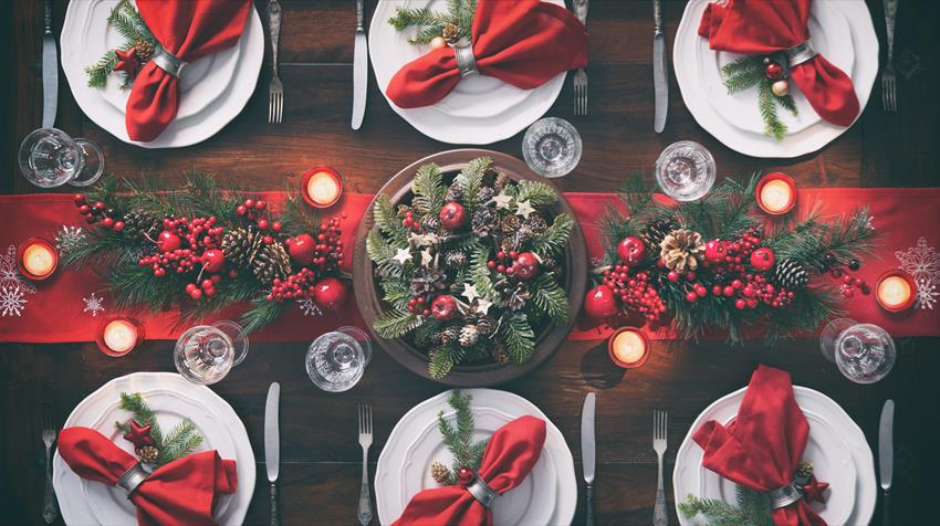 Ozdoby stołu świątecznego