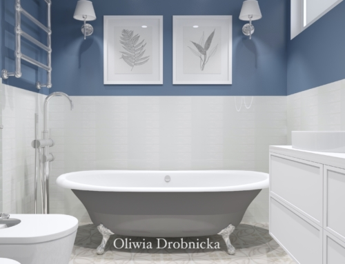 Projekt łazienki w stylu modern classic