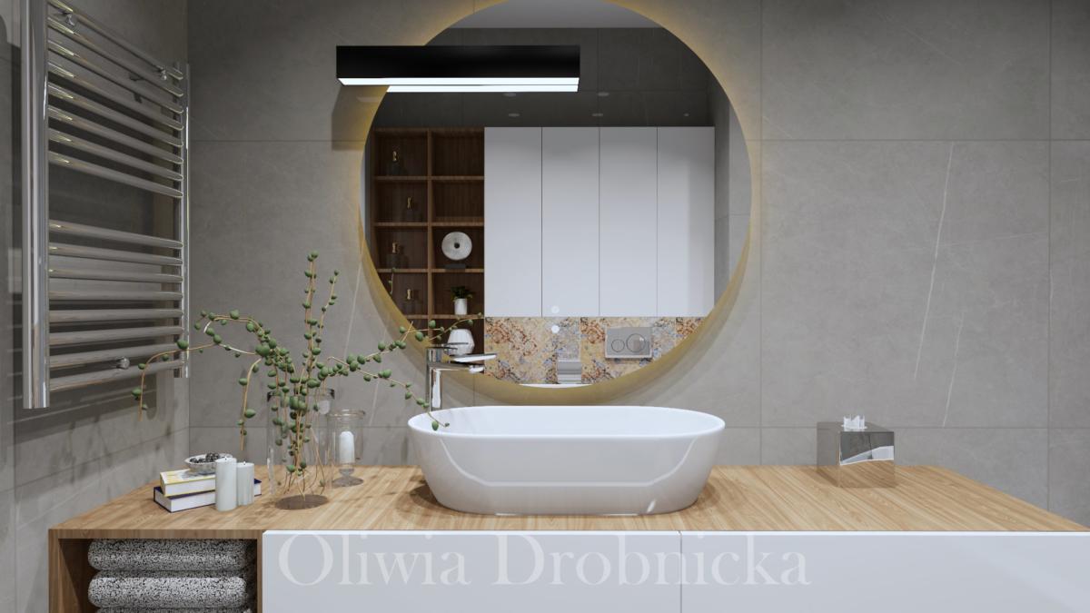 Projekt łazienki Oliwia Drobnicka