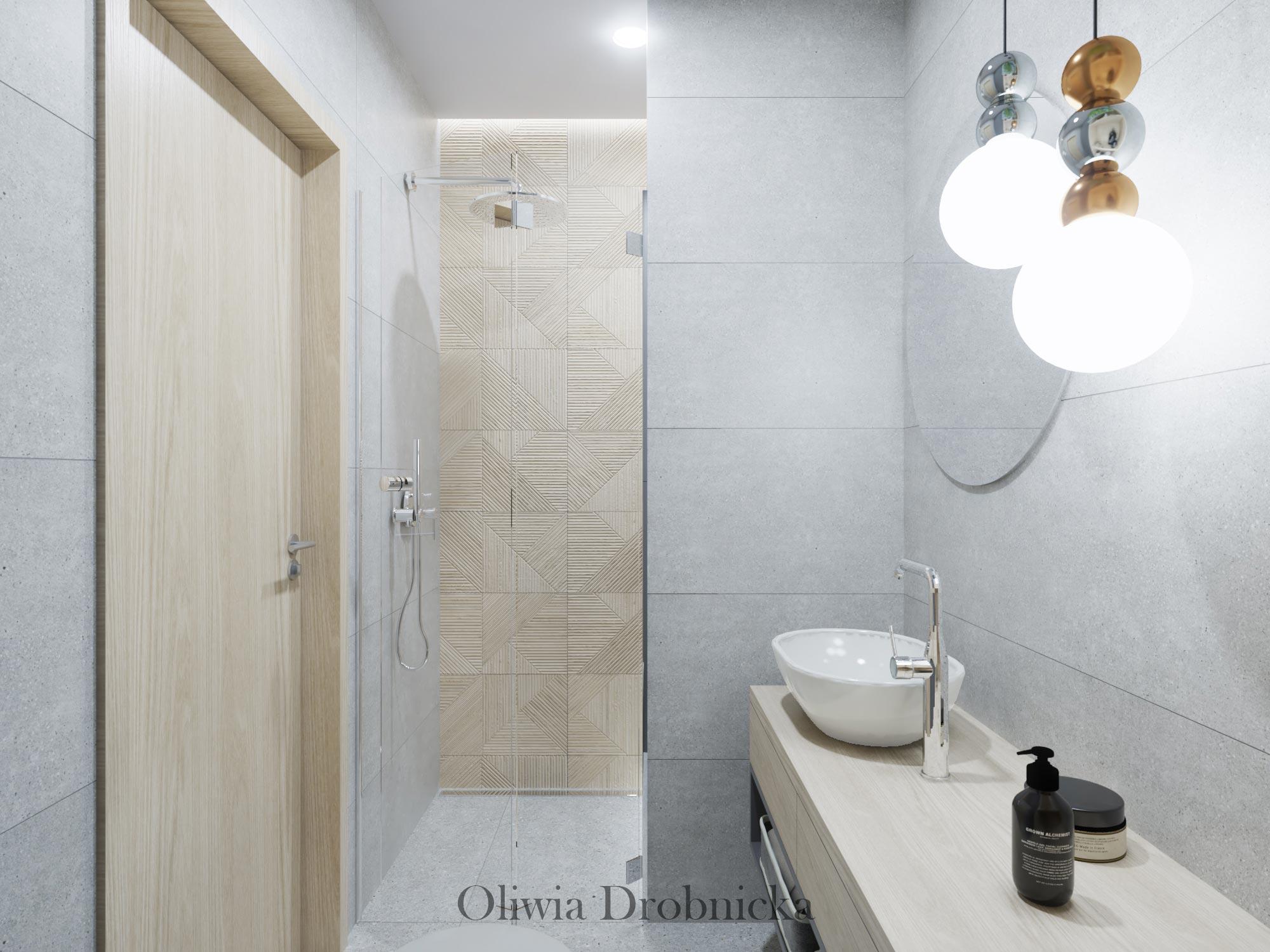 Nowoczesna łazienka z ławeczką